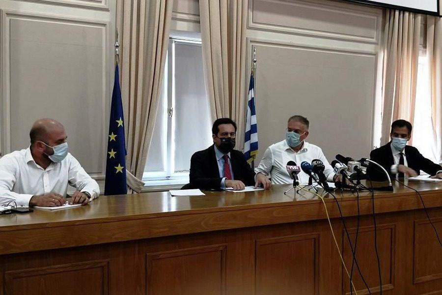 Η συνέντευξη Τύπου του Υπουργικού κλιμακίου στη Λέσβο