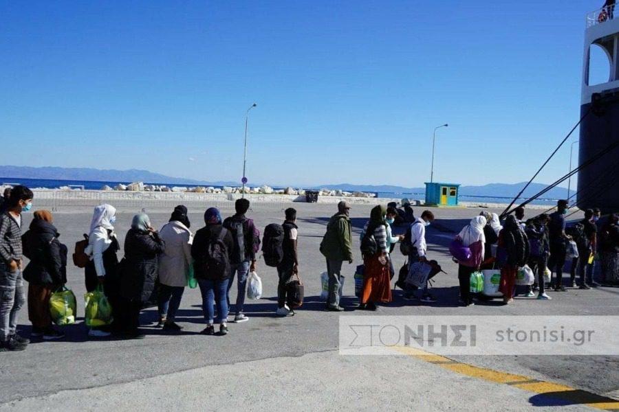 Αναχώρηση 313 προσφύγων από τη Λέσβο