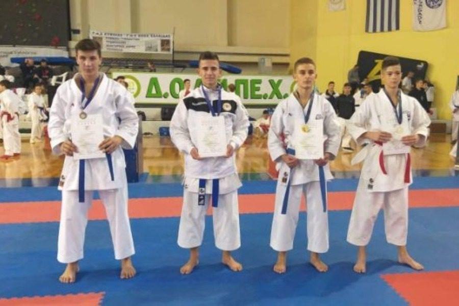 Σάρωσε τα μετάλλια ο ΑΣ Shotokan Καράτε Πολιχνίτου