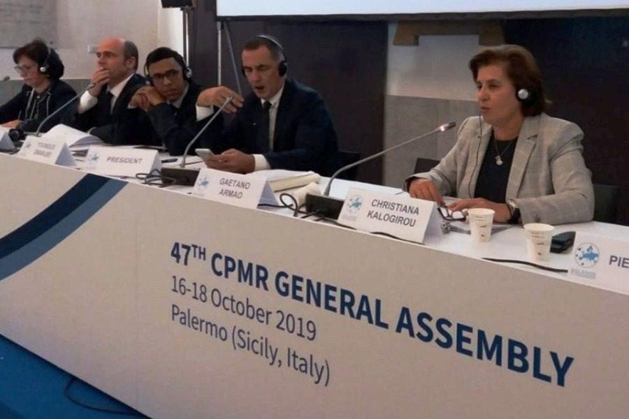 Παρέμβαση Καλογήρου στην Επιτροπή Νήσων της CPMR