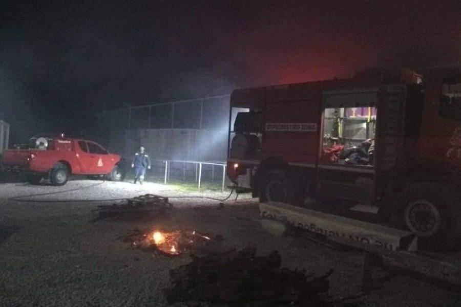 Ο Δήμος Δυτικής Λέσβου καταδικάζει απερίφραστα το κάψιμο της  δομής στη Σκάλα Συκαμνιάς