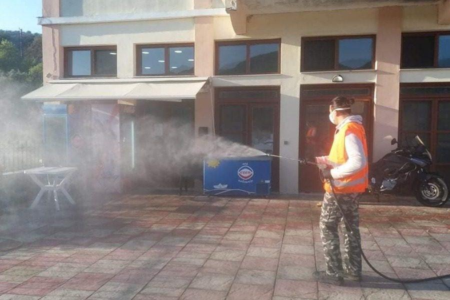 Στη μάχη της απολύμανσης ο Δήμος Δυτικής Λέσβου