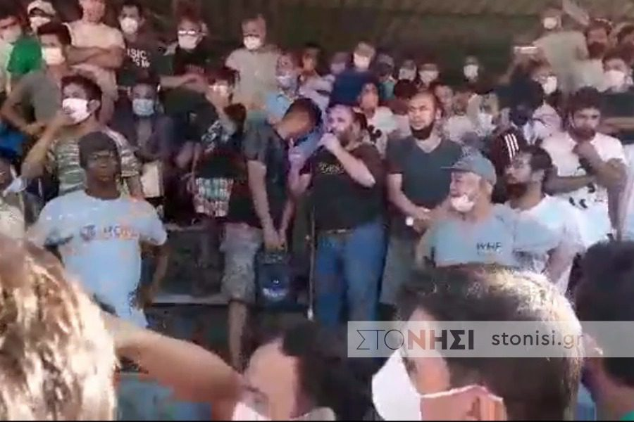 Διαμαρτυρίες στη Μόρια