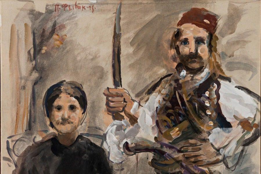 Ζωγραφίζοντας τον Θεόφιλο Χατζημιχαήλ