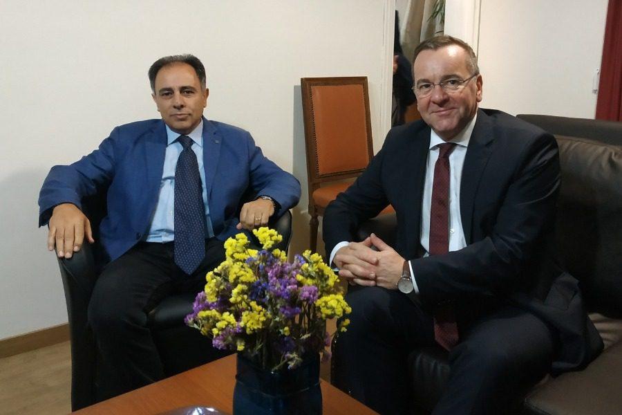 Συναντήθηκε με τον υπουργό Εσωτερικών Γερμανικού κρατιδίου