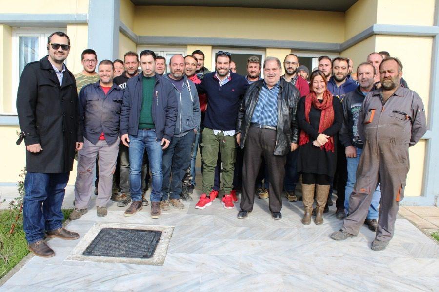 Με τους εργαζόμενους στον ΧΥΤΑ ο Στέφανος Αποστόλου