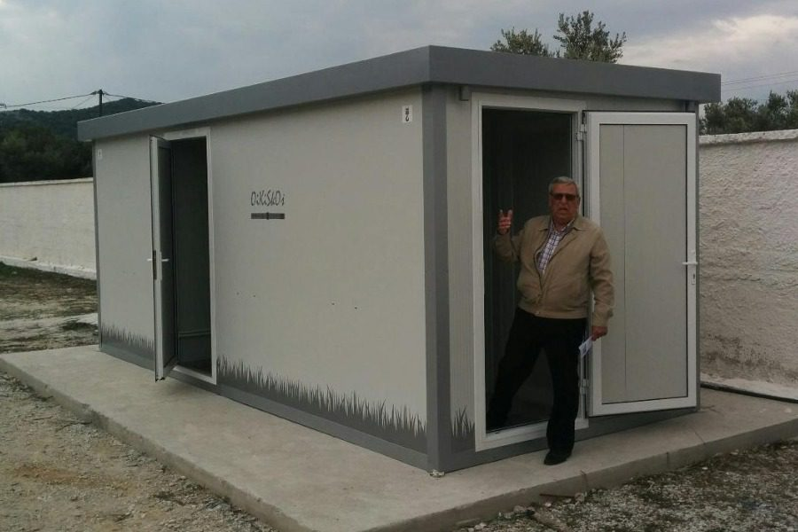 Τοποθετήθηκε ο οικίσκος τουαλετών στο Γήπεδο Λουτρών!
