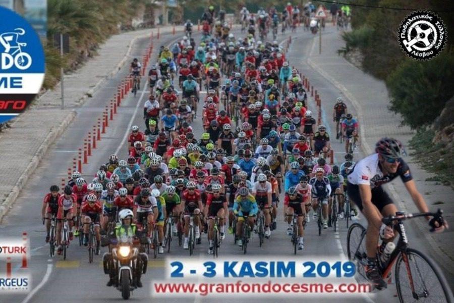Ο Νίκος Λάνδρου στο Veloturk Gran Fondo στο Τσεσμέ της Τουρκίας