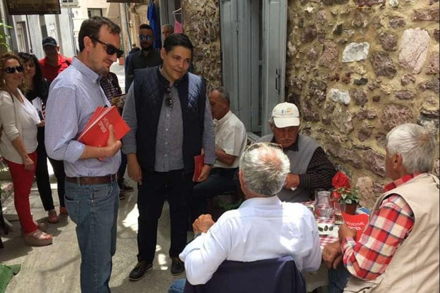 Στην αγορά της Μυτιλήνης ο Μπουρνούς