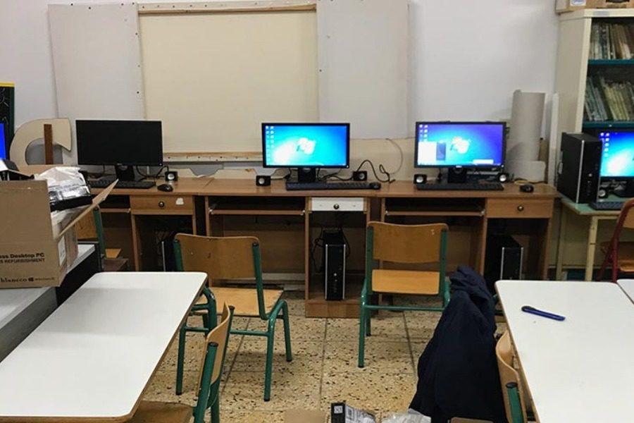 13 υπολογιστές στο Δημοτικό Σχολείο Παπάδου