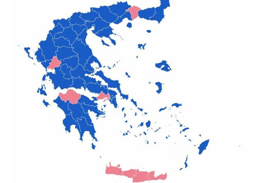 Ο χάρτης της Ελλάδας στο 100% της ενσωμάτωσης