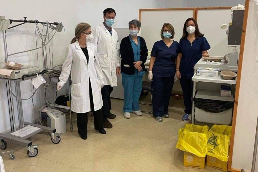 458 υγειονομικοί αναμένεται να εμβολιαστούν συνολικά στη Λέσβο