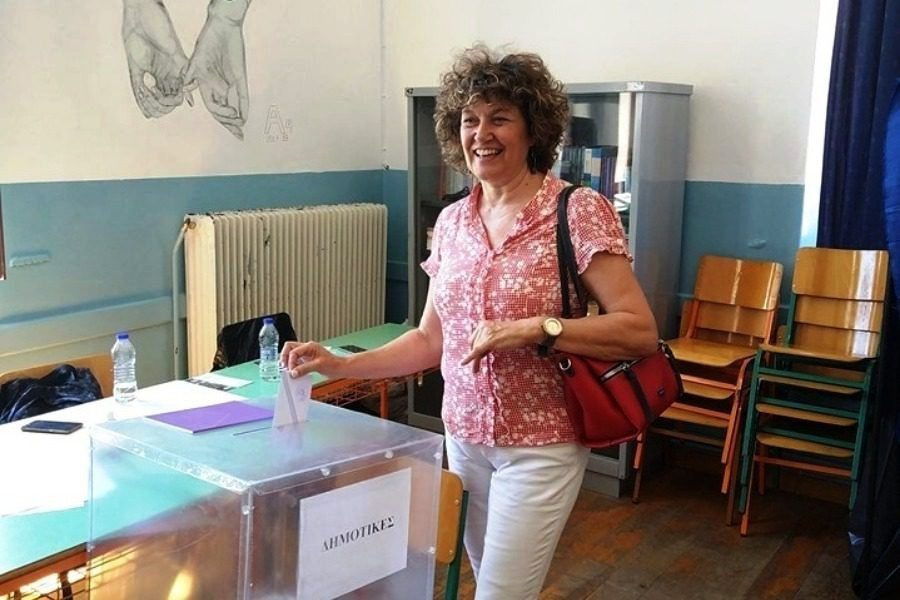 Στα Κεντρικά Λύκεια ψήφισε η Εριφύλη Χιωτέλλη