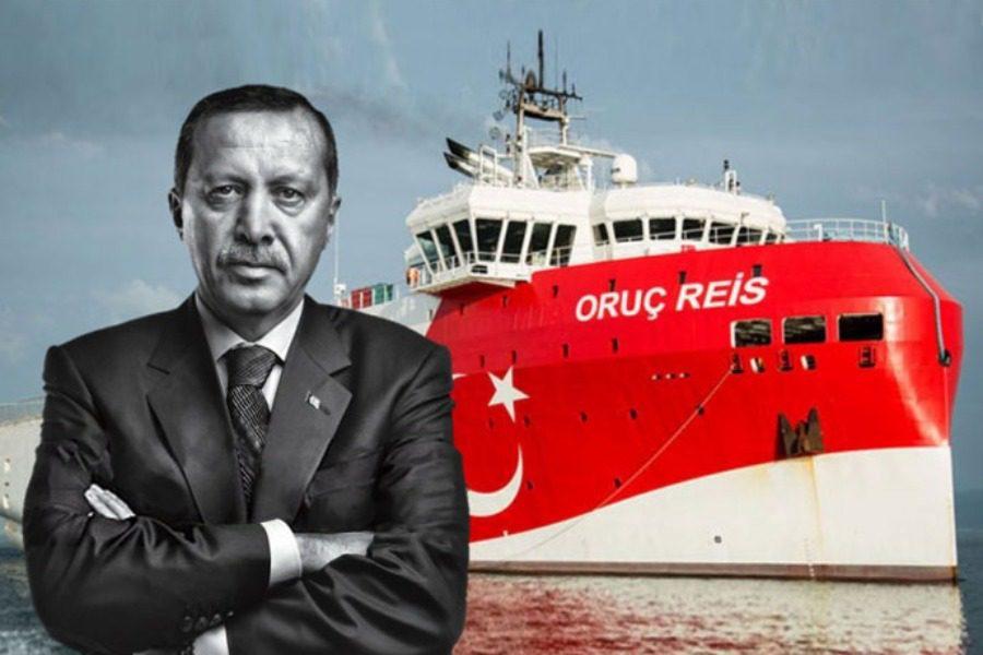 Συνεχίζει να προκαλεί με το «Ορούτς Ρέις» o Ερντογάν