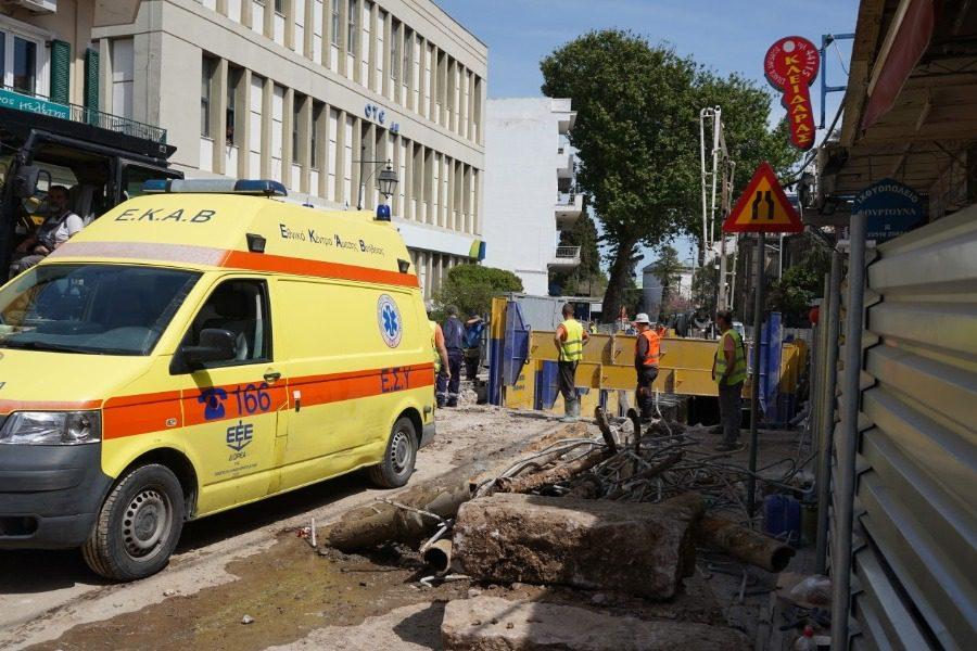 Εργατικό ατύχημα στο έργο της Λαγκάδας