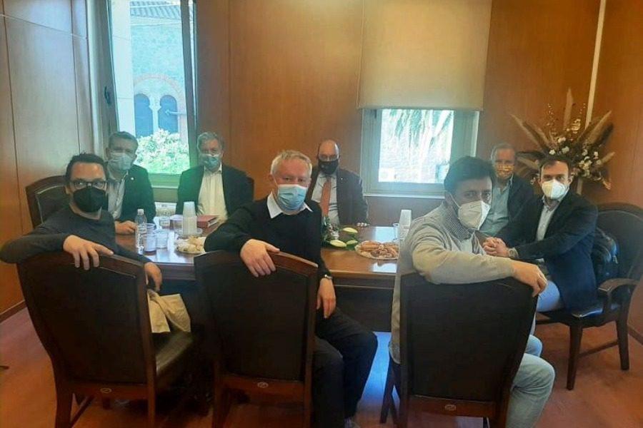 Συνάντηση Βέρρου με αντιπροσωπεία του Ευρωπαϊκού Συμβουλίου