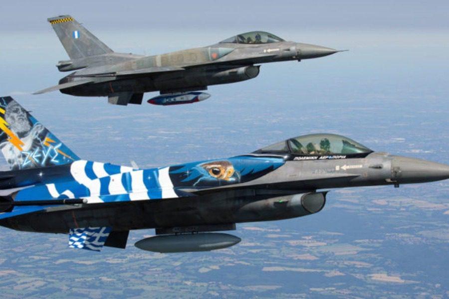 Ένα ζεύγος F‑16 θα πετάξει σήμερα πάνω από τη Λέσβο