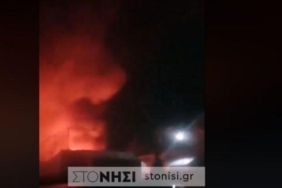 Καίγεται το Stage 2 στη Συκαμνιά