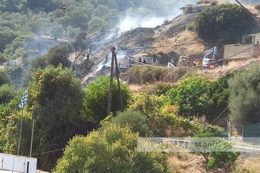Υπό έλεγχο η φωτιά στο Γαϊδαρανήφορο