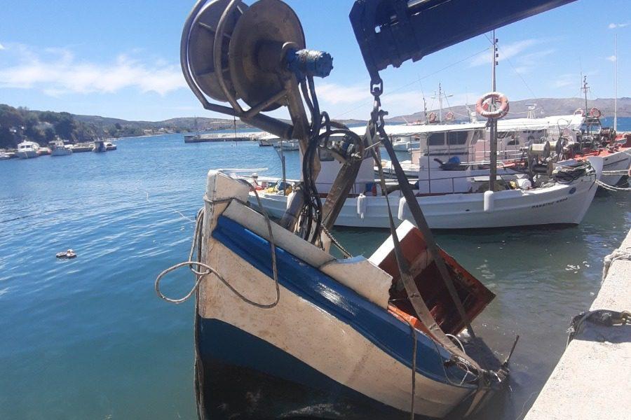 Εργασίες αποκατάστασης στο λιμάνι της Σκάλας Πολιχνίτου