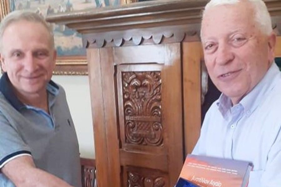 Συνάντηση Κώστα Μουτζούρη με Δημήτρη Χαλκιώτη