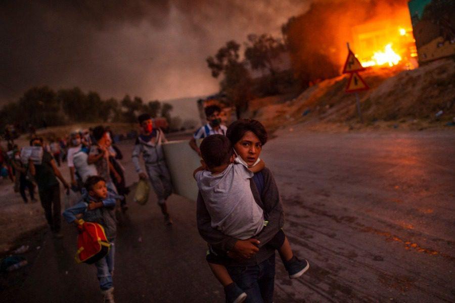 Βραβείο της UNICEF σε φωτογραφία από τη φλεγόμενη Μόρια