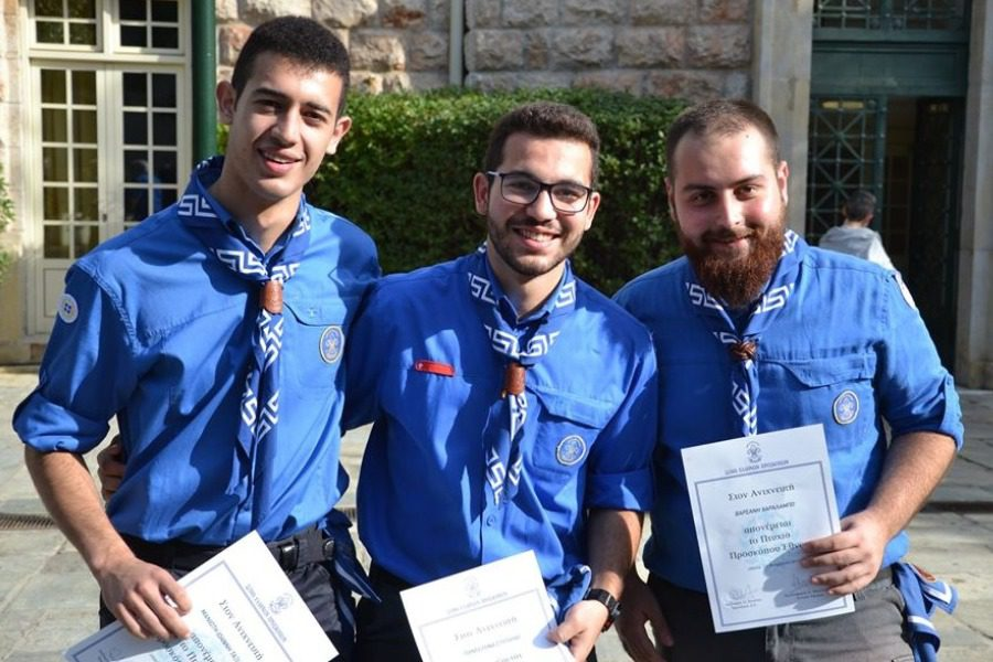Τρεις νέοι «Πρόσκοποι Έθνους» από τη Μυτιλήνη