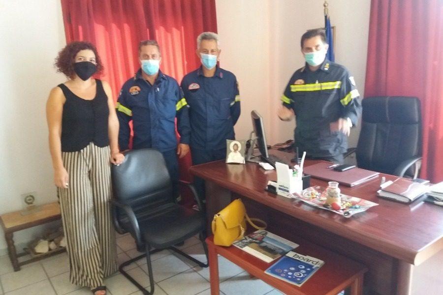 Επίσκεψη Μαρίας Κομνηνάκα στην Πυροσβεστική Υπηρεσία Βορείου Αιγαίου