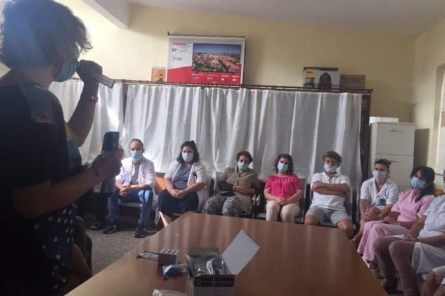Παράδοση 25 rapid test στο Κέντρο Υγείας Πλωμαρίου