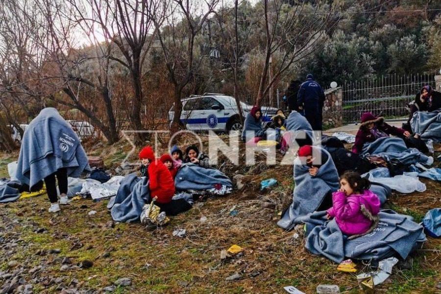 43 πρόσφυγες και μετανάστες ανοιχτά της Πέτρας