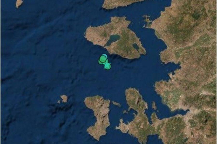 Σεισμός 3,8 ρίχτερ στη Δυτική Λέσβο