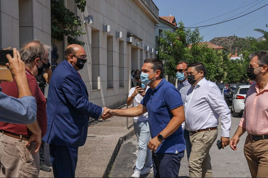 Επίσκεψη Τσίπρα στο Δήμο Δυτικής Λέσβου