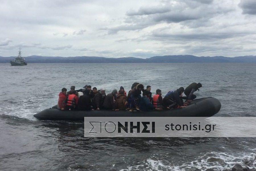 Προσφυγικές ροές στη Σκάλα Συκαμνιάς