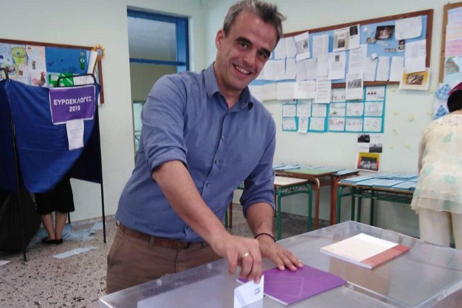 Στη Μυτιλήνη ψήφισε ο Παναγιώτης Χριστόφας